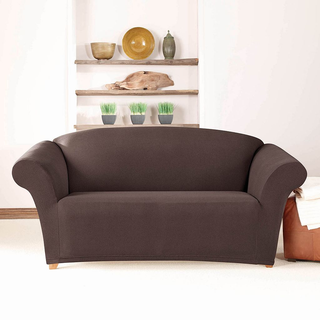Sure Fit Stretch Twill Loveseat Slipcover