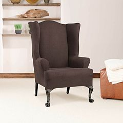 Sure Fit Stretch Twill Wing Chair Slipcover
