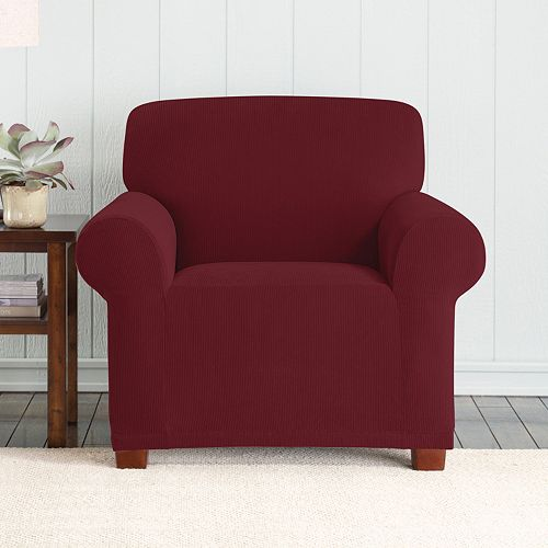 Sure Fit Stretch Pixel Corduroy Chair Slipcover