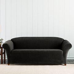 Sure Fit Stretch Pixel Corduroy Sofa Slipcover