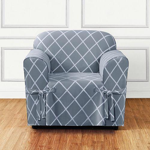 Sure Fit Lattice Chair Slipcover