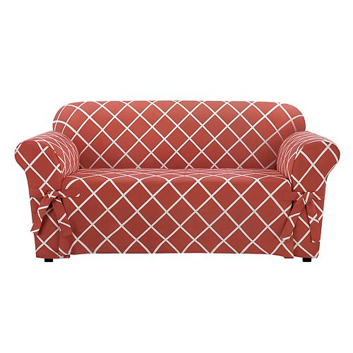 Sure Fit Lattice Loveseat Slipcover