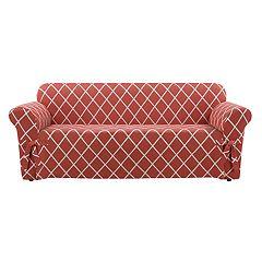 Sure Fit Lattice Sofa Slipcover