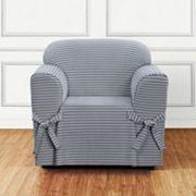 Sure Fit Horizontal Club Stripe Chair Slipcover