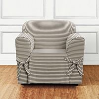 Sure Fit Horizontal Club Stripe Chair Slipcover