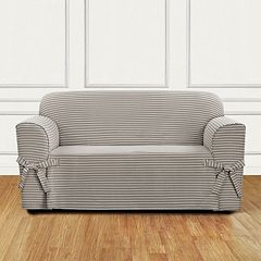 Sure Fit Horizontal Club Stripe Loveseat Slipcover
