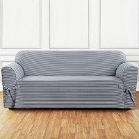 Sure Fit Horizontal Club Stripe Sofa Slipcover