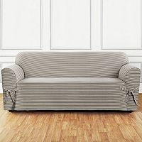 Sure Fit Horizontal Club Stripe Sofa Slipcover