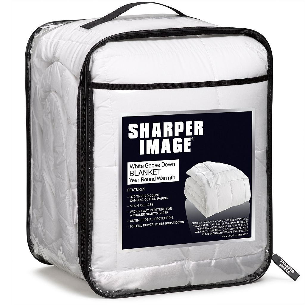 Sharper Image 370 Thread Count Goose Down Blanket