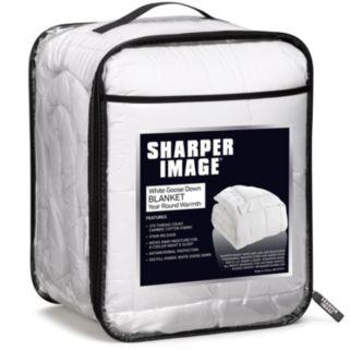 Sharper Image 370 Thread Count Goose Down Blanket