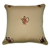 Loom and Mill Monkey Throw Pillow