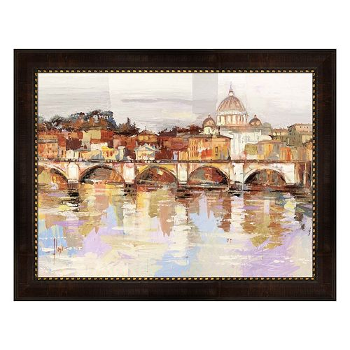 Metaverse Art Dolcemente Roma Framed Canvas Wall Art