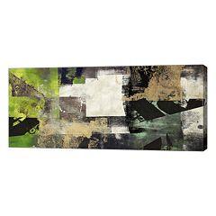 Metaverse Art Emerald Print Canvas Wall Art