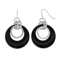 Circle Link Graduated Drop Earrings
