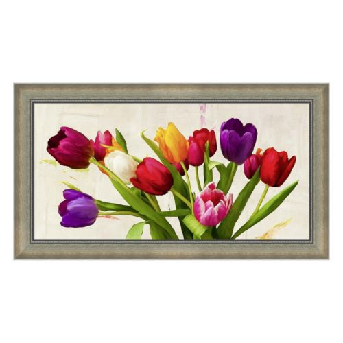 Metaverse Art Bouquet d'Ete Framed Canvas Wall Art