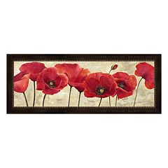 Metaverse Art Red Poppies Framed Canvas Wall Art