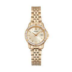 Seiko Women's Crystal Stainless Steel Watch - SUR728