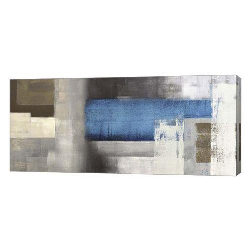 Metaverse Art Blue Moon Canvas Wall Art