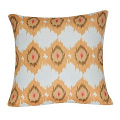 Loom and Mill Gold Circles Faux Suede Throw Pillow