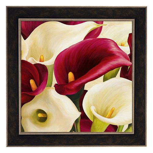 Metaverse Art Calla Composition Framed Canvas Wall Art