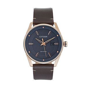 Drive from Citizen Eco-Drive Men's CTO Leather Watch - BM6983-00H