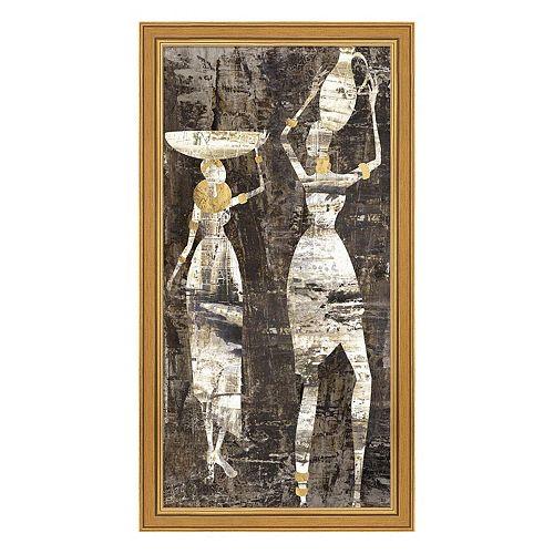 Metaverse Art Africa II Framed Canvas Wall Art
