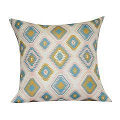 Loom and Mill Diamond I Geometric Faux Suede Throw Pillow