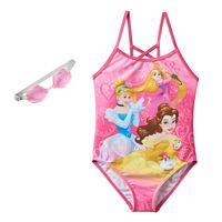 Disney Princess Rapunzel, Cinderella & Belle Girls 4-6x One-Piece Swimsuit