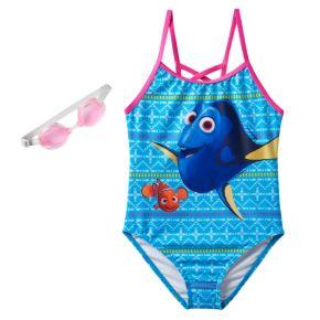 Disney / Pixar Finding Dory & Nemo Girls 4-6x One-Piece Swimsuit