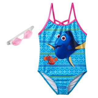Disney / Pixar Finding Dory & Nemo Girls 4-6x One-Piece Swimsuit
