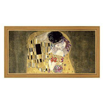 Metaverse Art The Kiss Framed Canvas Wall Art