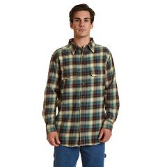 Men's Stanley Classic-Fit Plaid Stonewashed Flannel Button-Down Shirt