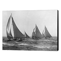 Metaverse Art Sloops At Sail 1915 Canvas Wall Art