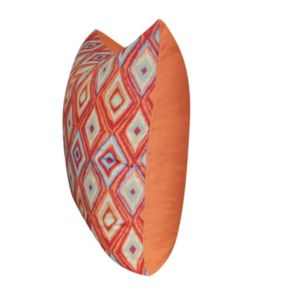 Loom and Mill Diamond II Geometric Faux Suede Throw Pillow