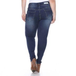 Plus Size White Mark Super Stretch Denim Jeans