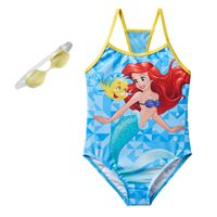Disney's The Little Mermaid Ariel & Flounder Girls 4-6x One-Piece Swimsuit