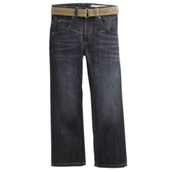 Boys 4-7x Lee Dungarees Slim-Fit Belted Jeans