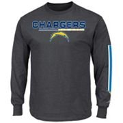 Men's Majestic San Diego Chargers Primary Receiver Long-Sleeve Tee