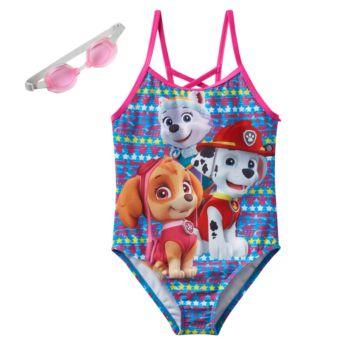 Girls 4-6x Paw Patrol Everest, Skye & Marshall One-Piece Swimsuit