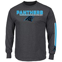 Men's Majestic Carolina Panthers Primary Receiver Long-Sleeve Tee