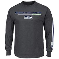 Men's Majestic Seattle Seahawks Primary Receiver Long-Sleeve Tee