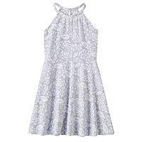 Girls 4-10 Jumping Beans® Print Halter Dress