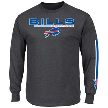 Men's Majestic Buffalo Bills Primary Receiver Long-Sleeve Tee