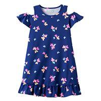 Girls 4-10 Jumping Beans® Ruffled Cold-Shoulder Dress