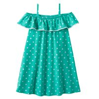 Girls 4-10 Jumping Beans® Patterned Ruffle Cold Shoulder Dress