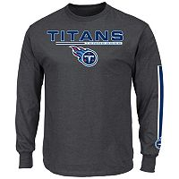 Men's Majestic Tennessee Titans Primary Receiver Long-Sleeve Tee