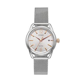 Drive from citizen eco drive women 39 s ltr stainless steel mesh watch fe6081 51a for Watches kohls