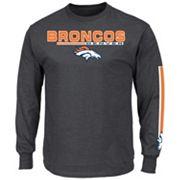 Men's Majestic Denver Broncos Primary Receiver Long-Sleeve Tee