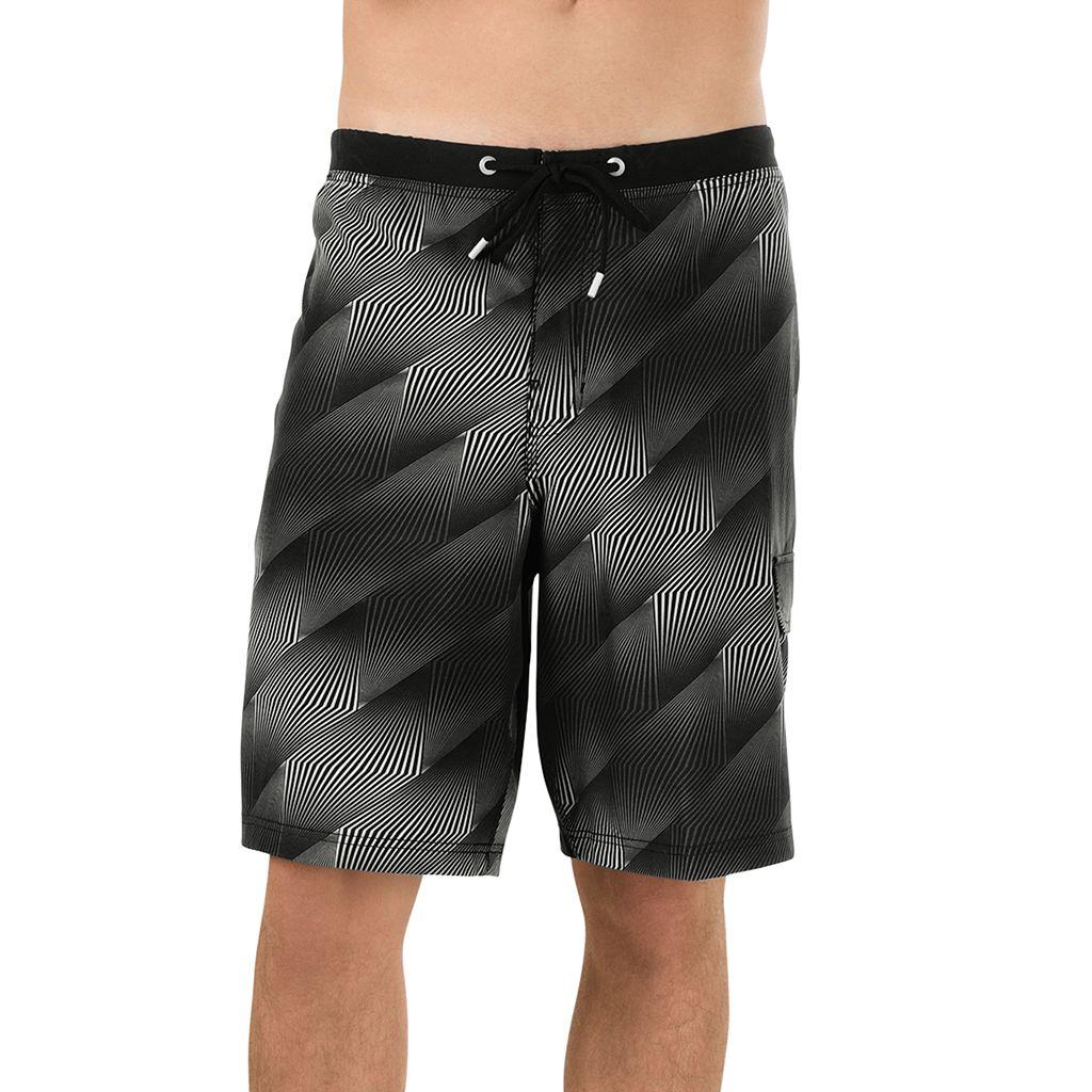 Men's Speedo Crosswise Geometric 4-Way Stretch Board Shorts