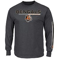 Men's Majestic Cincinnati Bengals Primary Receiver Long-Sleeve Tee
